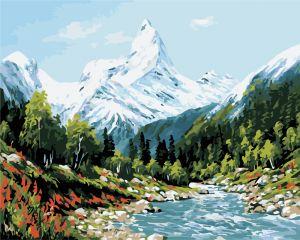 Высокие горы - Раскраска по цифрам