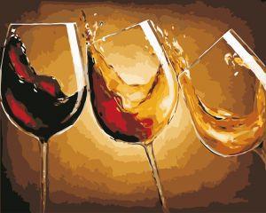 Три бокала - Картина по номерам