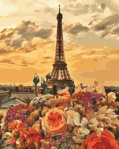 Вечерний Париж - Рисование по номерам на холсте