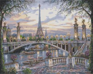 Воспоминание о Париже - Раскраска по цифрам