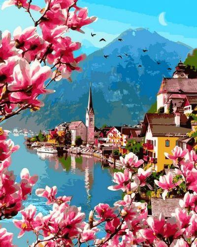 Цветение в Гельштате - Картина по номерам
