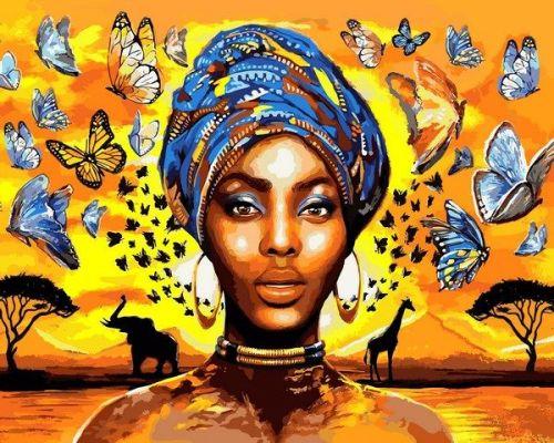 Восхитительная женщина - Картина по цифрам