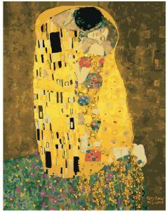 «Поцелуй» Густава Климта - Картина по цифрам без коробки