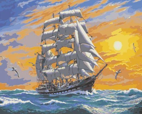 Хозяин морей - Раскраска по цифрам