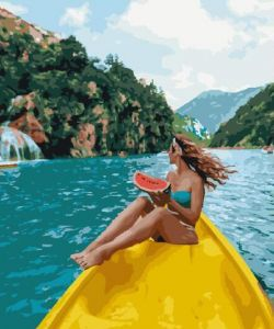 Тропический заплыв - Картина-раскраска без коробки