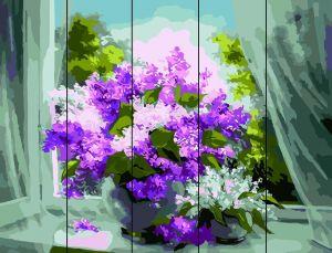 Сирень у окна - Раскраска по дереву  Rainbow Art