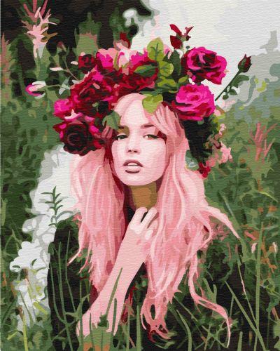 Девушка весна - Картина раскраска без коробки