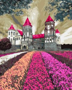 Мирский замок в цветах - Набор для рисования