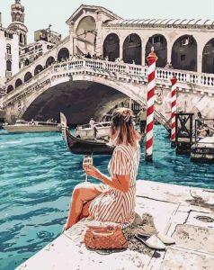 Влюблена в Венецию - Роспись по номерам без коробки