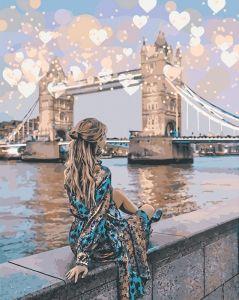 Романтический Лондон - Картина раскраска без коробки