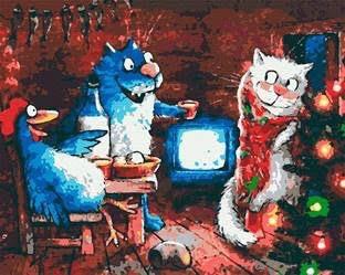 Сині коти - Роспись по номерам