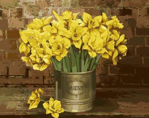Нарциссы - Раскраска по цифрам