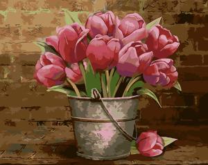 Тюльпаны - Картина раскраска
