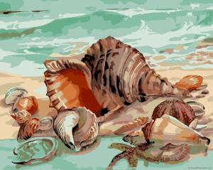 Дары моря - Картина раскраска