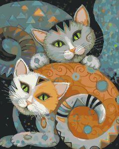 Коты - Раскраска по номерам