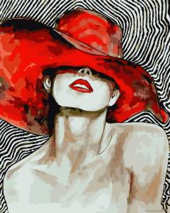 Яркая дама - Рисование по номерам