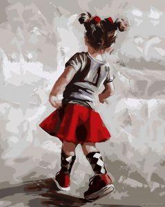 Маленькая модница - Картина по номерам