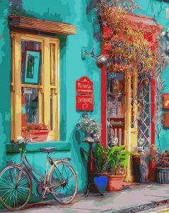 Яркий магазинчик - Раскраска по номерам