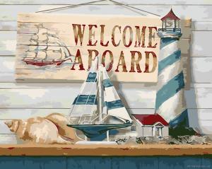 Морские приключения - Раскраска по цифрам