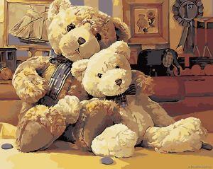 Любимые игрушки - Картина по цифрам