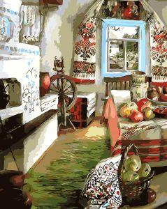AS0107 Украинский уют - Картина по номерам на холсте фото