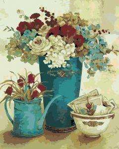 Винтажные цветы - Картина по номерам