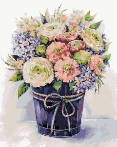 Нежные цветы - Раскраска по цифрам