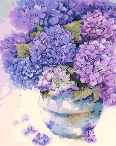 AS0123 Милая гортензия  - Раскраска по номерам фото