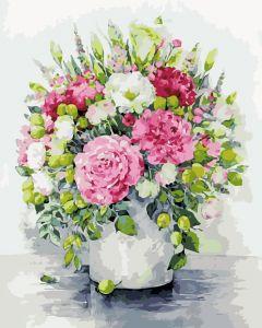 Изящные цветы - Раскраска по номерам