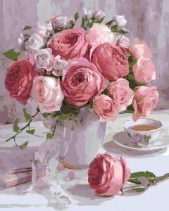 Нежные розы - Картина по цифрам