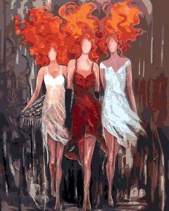 Огненное трио - Раскраска по номерам