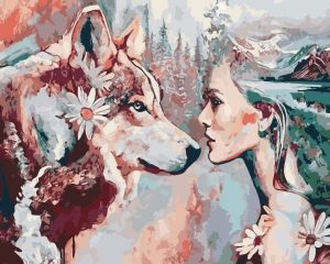 Душа волчицы - Картина по номерам на холсте
