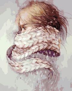 AS0196 Девушка- зима - Картина по цифрам фото