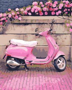 В розовом стиле - Картина раскраска