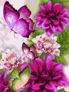 Цветы и бабочки. Без коробки