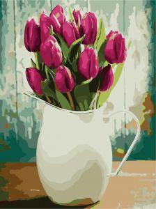 Букет тюльпанов - Роспись по номерам