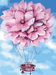 На воздушном шаре - Картина-раскраска без коробки