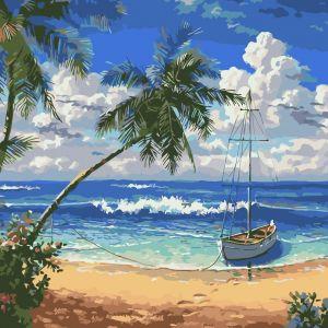 AS0328 Райский остров - Картина по цифрам без коробки фото