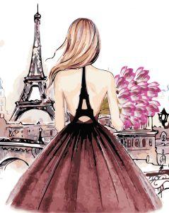 AS0442 Красотка в Париже - Картина по номерам фото