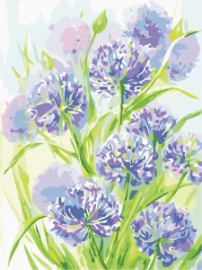 Цвета лета - Роспись по номерам без коробки