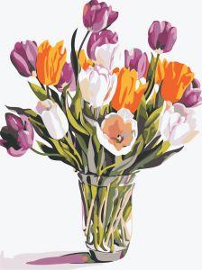 Разноцветные тюльпаны. Без коробки