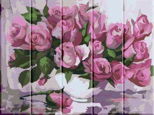 Розы - Рисование по номерам (деревянная основа)