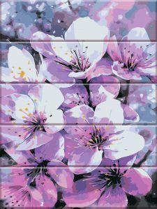 Первоцвет - Картина-раскраска по дереву