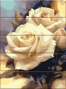 Пастельные розы - Раскраска по дереву