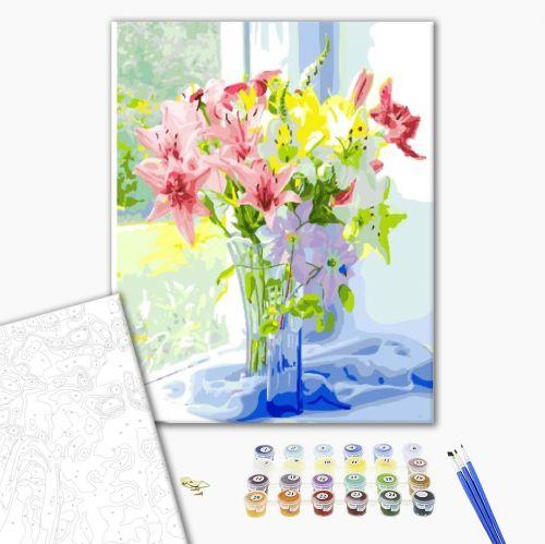 Весенний букет лилий - Роспись по номерам