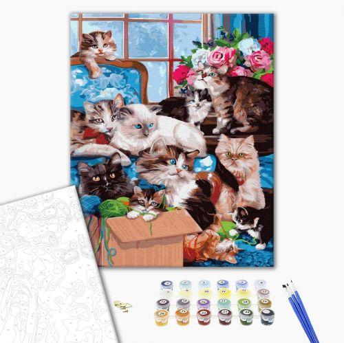 Кошкин дом - Картина по номерам