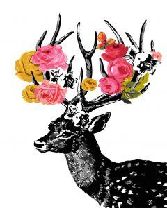 Олень с цветущими рогами. Без коробки