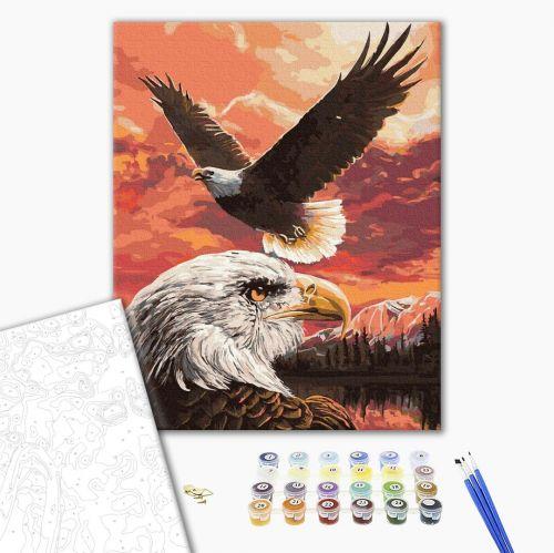 Полет орлов - Картина по номерам на холсте