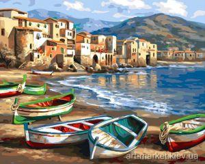 Лодки на берегу. Без коробки