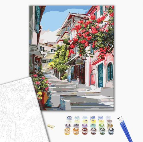 Греция - Рисование по номерам на холсте